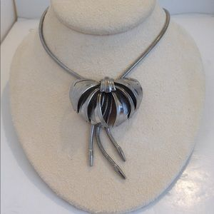 Vintage bow necklace